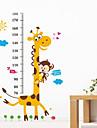 καμηλοπάρδαλη ταπετσαρία ζώων κινουμένων σχεδίων μέτρησης αυτοκόλλητα ύψος αφαιρούμενη παιδιά παιδί υπνοδωμάτιο