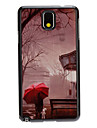 Lonely Girl in Rain Decal Pattern Mirror Smooth Back Hard Case for Samsung Note3 N9000