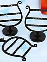 Fashion Plastic caliz joyeria soporte de exhibicion para los pendientes (Negro) (2 unidades)