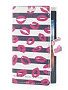 Kiss and Stripe Leather Case with Card Slot and Stand for LG L5/E610/E612