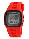 För män Multifunktionell Fashionabla Square Dial Silikon Band LED Digital Sport Watch (Blandade färg)