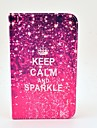 Keep Calm and Sparkle Pattern Full Body Case with Stand for Samsung Galaxy Tab 3 7.0 P3200