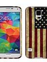 Bandeira Nacional EUA Suave Soft Case Gel TPU Ultra-slim para Samsung Galaxy i9600 S5