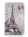Eiffel Tower PU Leather and Hard Back Cover Pouch for Samsung Tab 3 Lite T110