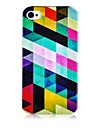 Colorful Geometry Figure Silicone Soft Case for iPhone4/4S