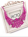 European Fashion  Multicolor Alloy Statement Necklace(Rose,Gold,Black) (1 Pc)