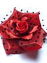 Mode de mariee en soie rouge de fleur en epingle a cheveux