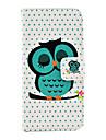 용 아이폰5케이스 카드 홀더 / 스탠드 케이스 풀 바디 케이스 부엉이 하드 인조 가죽 iPhone SE/5s/5