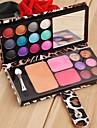 12 palette de couleurs de fard à paupières de maquillage kit cosmétique professionnelle Blush Poudre Palette SV003816
