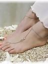 shixin® classico numero 8 liga de forma sandalia descalco (ouro, prata, bronze) (1 pc)