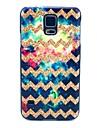 Para Samsung Galaxy Capinhas Estampada Capinha Capa Traseira Capinha Linhas / Ondas PC Samsung S5