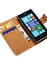 Genuine Leather Wallet Case for Nokia Lumia 520 Stand with Credit Card Holder New Arrival