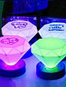 Noite LED Cone Forma Colorido ABS Light (cor aleatoria)