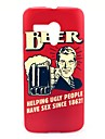 Drink on Beer Happiness Pattern Plastic Hard Case for Motorala Moto G