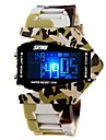 Men's Army Style Multi-Functional Colorful LED Camouflage Silicone Band Wrist Watch (Assorted Colors) Cool Watch Unique Watch