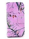 용 삼성 갤럭시 케이스 지갑 / 카드 홀더 / 스탠드 / 플립 / 패턴 케이스 풀 바디 케이스 나무 인조 가죽 Samsung S4 Mini