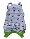 Gatos / Caes Camiseta Vermelho / Verde Roupas para Caes Primavera/Outono Fruta