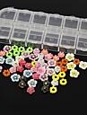 60PCS 12 Design Random Acrylic Resin Flower Set Nail Art Decoration