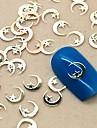 200pcs forme de lune d\'or metal tranche nail art decoration