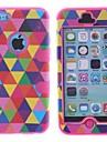 padrão multicolour três-em-um robô pc projeto e silicone caso de corpo inteiro para iphone 5c