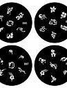 1pcs nail art carimbo de carimbar imagem modelo de placa b serie No.85-88 (padrao assorted)