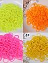 baoguang®600pcs cor do arco-iris tear solido elastico cor (1pcs crochet, 24pcs gancho, cores sortidas)