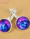 European Blue Galaxy Silver Stud Earring(1 Pair)