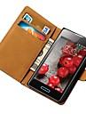 LG 옵티머스 L5 E612를위한 진짜 가죽 지갑 케이스