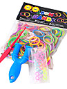 BaoGuang®300PCS Rainbow Color Loom Fashion Loom Rubber Band(1pcs Slingshot and 1Package S Clip)