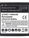 Bateria de litio-ion de 1800mAh para Samsung Galaxy s I9070 antecipadas