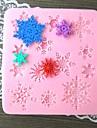 образный Снежинка выпекать fandant плесень, l9.5cm * w8.8cm * h1cm см-268