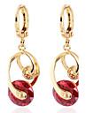 여성의 패션 로맨틱 한 디자인의 18K 골드 지르콘 귀걸이를 도금