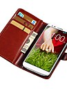 Retro Style PU Leather Case for LG G2 Wallet with Stand Fuction