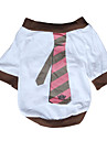 Dog Shirt / T-Shirt White Dog Clothes Summer Spring/Fall Stripe Casual/Daily