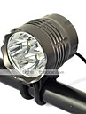 Boruit 4T6  5-Mode 4x Cree XML-T6 Rechargeable LED Bicycle Light(5000LM,4x18650 Battery Pack,Gray)