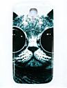 animales modelo fresco gato cubierta de la caja dura delgada para i9500 samsung galaxy s4