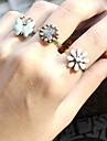 Lureme®Fashion Butterfly Flower Three Pieces a Set Ring