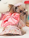 Dog Dress Pink Spring/Fall Bowknot Wedding / Cosplay