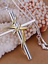 Кулоны Стразы Cross Shape серебро 1