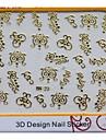 nouvelle arrivée 3d autocollants golder métalliques art ongle pour orteil manucure