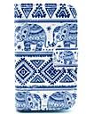 motif elephant tapis pu cas de couverture de cuir avec le stand pour samsung galaxy renommee s6810