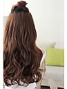 onda longa sintetica 5 clip-na extensao do cabelo