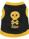 Cat / Dog Shirt / T-Shirt Black / Blue / Yellow Dog Clothes Spring/Fall Skulls / Hearts