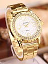 Women's  Fashion Marble Mirror Rhinestones Steel Belt Watch Cool Watches Unique Watches