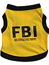 Cat / Dog Shirt / T-Shirt / Jersey Yellow Dog Clothes Spring/Fall Police/Military / Letter & Number