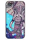 Elefanten und Sternenhimmel mustern harte rueckseitige Abdeckung fuer iPhone 4 / 4s