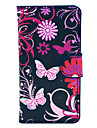 Black Butterfles Pattern PU Leather Hard Plastic Case for Huawei G6