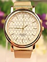 Women's Casual Style Gold Stainless Steel Band Quartz Analog Wrist Watch Cool Watches Unique Watches