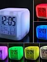 descompresion colorido comodo alarma reloj llevado luz de noche