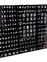 1 개 250 디자인 큰 네일 아트 스탬프 스탬핑 이미지 템플릿 플레이트 / 네일 스텐실 (임의의 패턴)